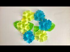 【折り紙】立体あじさいの折り方【創作】How to make a hydrangea - YouTube