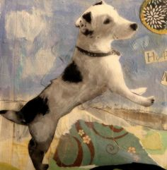 The memory portrait painting project - the trodden path Custom Dog Portraits, Pet Portraits, Jack Russell, Dog Paintings, Portrait Art, Dog Art, Altered Art, Collage Art, Sculpture