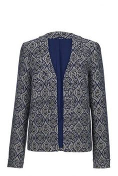 Womens Long Tall Sally Collarless Jacquard Jacket Size 16 UK DD 08 for sale online Long Sleeve Tunic, Long Sleeve Tops, Clothing For Tall Women, Clothes For Women, Tunic Shirt, Tunic Tops, Long Tall Sally, Wrap Cardigan, Vest Jacket