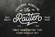 Routen Lightning Monoline 40%OFF! by Tyfrography on @creativemarket #font #typography