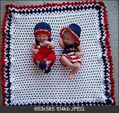 "Born on the 4th of July – LA Newborn -14"". #Crochet #Clothes #Set"