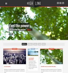 The Highline Joomla template is a beautiful responsive Joomla template from JoomlaBamboo.com