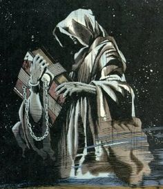 Destiny from the Sandman Endless.  Pinned as i like the idea of carrying a book in to battle on a chain!