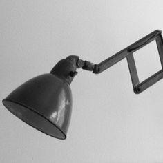 French Studio lamp #industrial #grey
