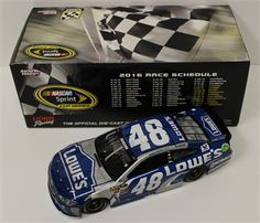Jimmie Johnson Diecast 48 2016 Lowe's Atlanta Race Win 1/24 NASCAR   DiecastCarsNow.com