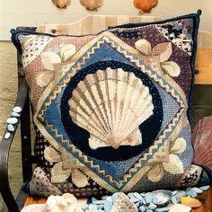 Scallop Shell - Ehrman Tapestry On sale this month, this scallop shell design. Have the seaside at home all year around.