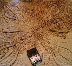 Remodelaholic | Vintage Chippy Ceiling Tile DIY Headboard