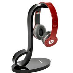 Cosmos ? Brand Piano Glossy Black Musical Headphone stand holder for AKG/Sony/Shure/Sennheiser/Monster Beats/Ultimate Ears/Boss/Logitech DJ/Professional/Gaming Headset