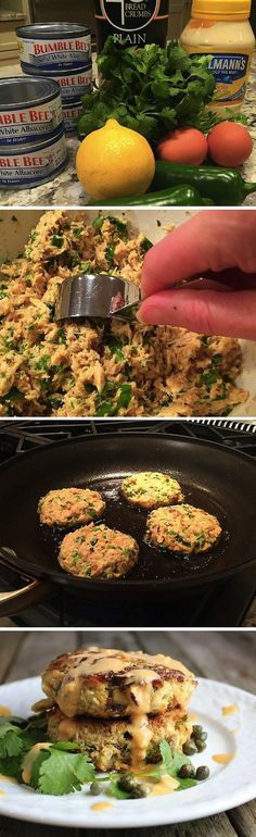 These simple healthy tuna cakes are delicious, budget friendly, and they feed an army! Low carb, low calorie, & clean eating from a can of tuna. Clean Eating Recipes, Cooking Recipes, Budget Recipes, Clean Foods, Eating Clean, Budget Dinners, Budget Cooking, Atkins Recipes, Clean Eating Lunches