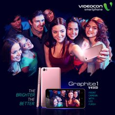 Take bright selfies to make your memories brighter with the #Videocon Graphite1 V45ED's Front Camera with LED flash. http://www.videoconmobiles.com/graphite1v45ed