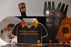 Orange, marketing, folletos