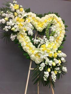 Flower Wreath Funeral, Funeral Flowers, Funeral Floral Arrangements, Flower Arrangements, Angel Wings Decor, Funeral Sprays, Corona Floral, Casket Sprays, Sympathy Flowers