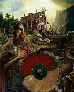 Beowulf Viking Warrior Fine Art Print by RagnarokCraftworks Art Viking, Viking Life, Viking Warrior, Thor, Valhalla, Medieval, Bracelet Viking, Viking Culture, Beowulf