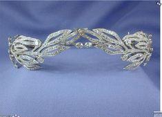 Archduchess Maria of Austria's Diamond Wreath Tiara - c. 1900