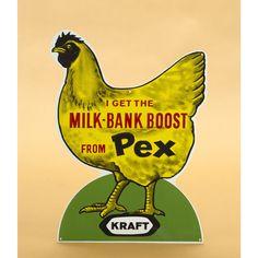 I Get The Milk-Bank Boost Metal Sign - Pedlars Friday Vintage