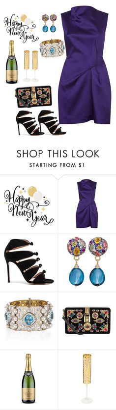"""Happy New Years Eve🎉🍾🎉🍾🎉🍾🎉"" by parnett ❤ liked on Polyvore featuring Roland Mouret, Gianvito Rossi, Nicholas Varney, Dolce&Gabbana and Roberto Cavalli"