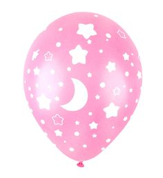 50X Star Pink Latex Balloons Decorations babyshower Girl Birthday Party Supplies…