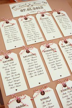 luggage tag table plan