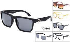 DG Sunglasses Inspired - Unisex Wholesale Trendy Plastic Wayfarer Sunglasses 1 Dozen IG9806