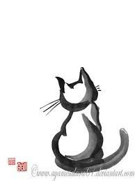 japanese ink cat - Google Search