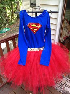 Super-Girl inspired Tutu Costume  on Etsy, $65.00