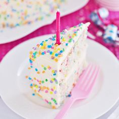 Hooray for funfetti! Do you remember Funfetti cake mix? Was it your favourite cake as a child? As a grown-up? Vanilla cake filled with little bits of rainbow sprinkle goodness is one of those treat…