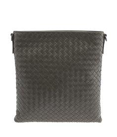 Bottega Veneta Green Intrecciato Leather Crossbody Bag
