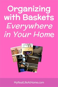 Organizing with Baskets - Ideas on how to use baskets for storage and organizing #organize #DIY #storage #toystorage #shoestorage #organizinghacks #kitchenstorage #howtoorganize #baskets Shoe Storage, Diy Storage, Storage Baskets, Planner Organization, Storage Organization, Organizing, Paper Clutter, Staying Organized, Group