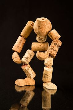 Hunch-corked Man - a tribute to Quasimoto (The Hunchback of Notre Dame).    #upcycle art #cork #repurpose #gift idea #wine cork sculpture