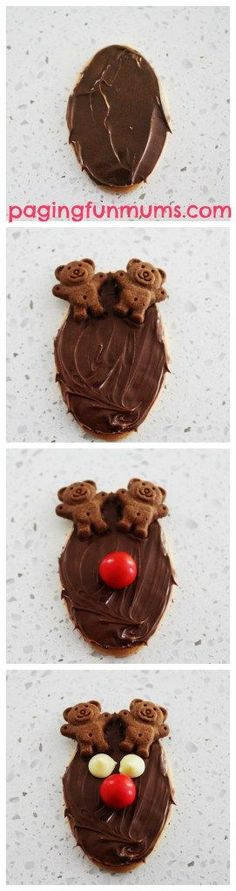 Kid made Reindeer Treats - a simple & adorable treat for kids to make for parties this festive season!
