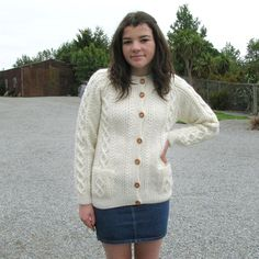 Aran Wool Cardigan, hand knitted in New Zealand from New Zealand Wool Tin Shed, Wool Cardigan, Hand Knitting, Unisex, Sweaters, Clothes, Fashion, Outfits, Moda