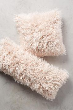 Shag Puff Pillow #uptownchic #anthrofave