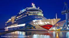 AIDAstella at night - January 2013 - 00AIDA stella 116 - Cruise Ships from Papenburg / Germany photo by Andreas Depping