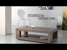 Verona Coffee Table in Walnut Veneer from Mojo Direct #Video