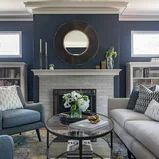 Traditional Living Spaces Get a Contemporary Makeover - Living Room - Sacramento - by Rachel Madden Interiors Navy Living Rooms, Living Spaces, Furniture Making, Living Room Furniture, Navy Paint Colors, Florida Decorating, Interior Decorating, Interior Design, Decorating Tips