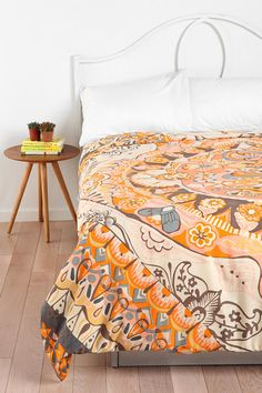 Magical Thinking Painted Mandala Duvet Cover (also in a green/blue)