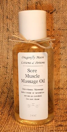 Sore Muscle Aromatherapy Massage Oil  by DragonflyMoonLotions, $6.00