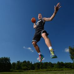 Mason Plumlee of the Brooklyn Nets poses for a portrait during the 2013 NBA Rookie Photo Shoot on August 6, 2013 at the Madison Square Garden Training Facility in Tarrytown, New York. (Photo by Jesse D. Garrabrant/NBAE via Getty Images)