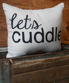 Let's Cuddle Decorative Throw Pillow