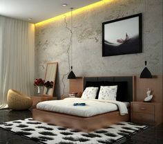 Modern-Bedroom-Decorating-Design-Ideas-in-Japanese-Style-and-Abstract-Wall-Art-Decoration.jpg (421×372)