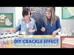 """Hosts Suzanne and Anna have a little Fun with Mod and demonstrate an amazing technique to add a """"Crackle"""" effect to any painted surface using Mod Podge, Milk. Mod Podge Uses, Diy Mod Podge, Crackle Painting, Diy Painting, Acrylic Paint Mediums, Cracked Paint, Bird Houses Painted, Texture Art, Craft Work"""