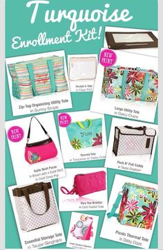 Begin your Thirty-One journey with the summer '14 Turquoise enrollment kit! www.mythirtyone.com/lesliefreeman