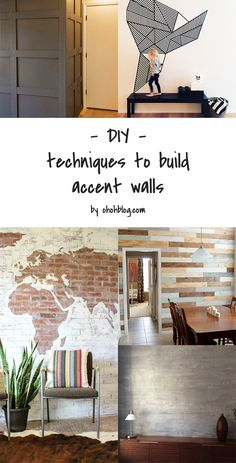 DIY to make an accent wall, with other materials than paint.