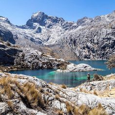 Laguna Churup, Peru. Surrounded by beautiful peaks within a wild scenery, Lake Churup is one of the best choices if you are looking for a short and not too strenuous (beware of the altitude though, reaching 4,450 m at the Laguna) hike with amazing views.