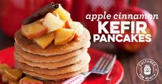 Apple Cinnamon Kefir Pancakes