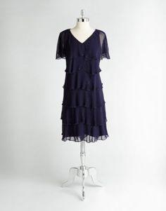 Layered Chiffon Dress   Lord and Taylor