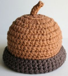 Acorn Crocheted Baby Hat - Great for Autumn