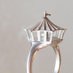 circus ring, 86$, design by kazu and shing of monocirkus.com #fashion #jewellery #accessoire #silver #ring #monocirkus #circus
