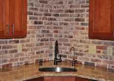 Kitchen Backsplash Brick Look photos of vintage brick veneer | home is where the heart is