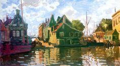 Claude Monet      Zaandam, Canal, 1871